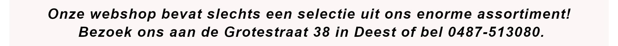 webshop is een selectie