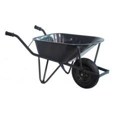 Bouw kruiwagen staal 85 L ovale buis verzwaard