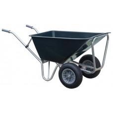 Stal kruiwagen groen Basic 160 L 2-wiel
