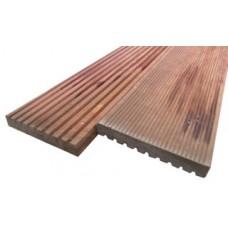 Plank hardhout geprofileerd 25 x 145