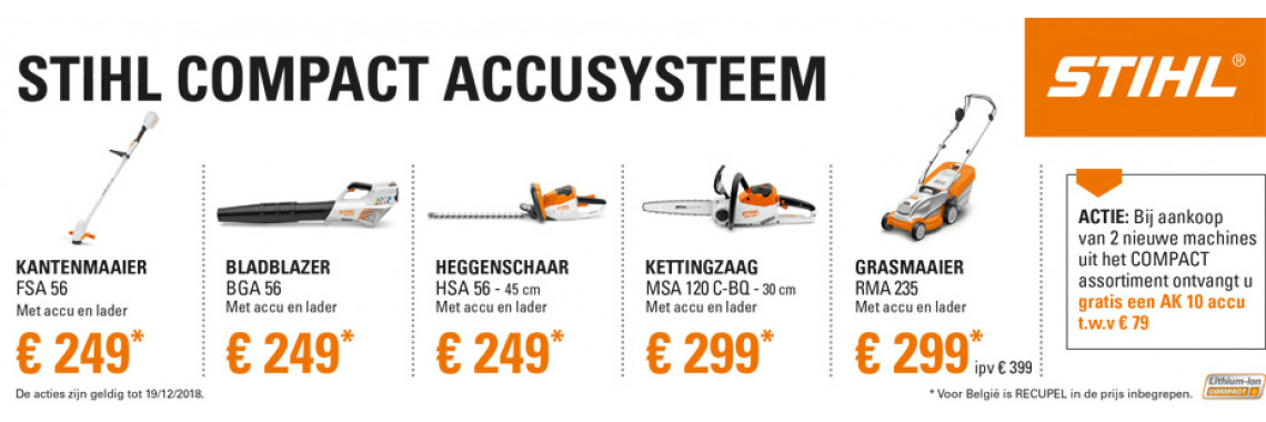 Gratis AK10 compact accusysteem